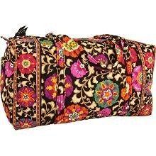 nwt vera bradley large duffel gym handbag bag travel suzani