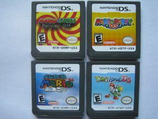 Mario Party and Super Mario 64 and Yoshis Island and Mario & Luigi for