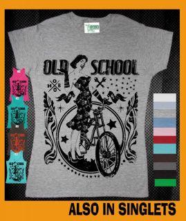 bike bicycle Hobo Womens T Shirt Singlets funky retro tee vintage