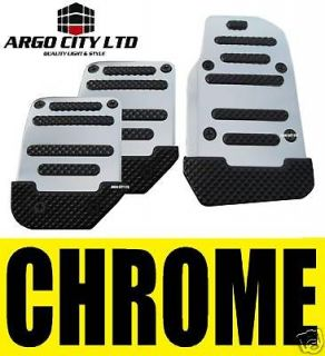 chrome car foot covers pedals vw polo lupo golf plus