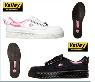 Womens Dunlop Volley *Safety* Steel Toe Cap Work Shoe Black or White