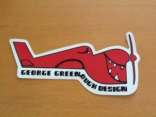 Surfboard sticker George Greenough vintage style surfing decal surf