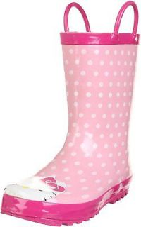 Western Chief Girls Hello Kitty Pink Polka Dotted Cutie Rain Boots