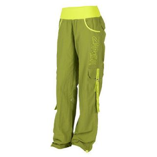 with tags ZUMBA ELECTRO CARGO PANTS, SOLDIER Size LARGE,