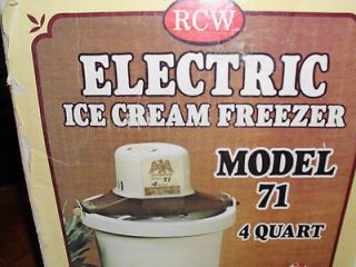 Quart Electric Ice Cream Freezer Model 71 still in the original box