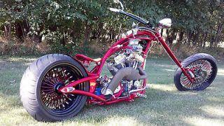 Redneck Chopper, bobber, Harley, 300MM rear tire, 23 front wheel