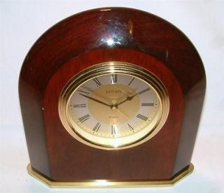 linden quartz rosewood desk alarm clock roman numeral time left
