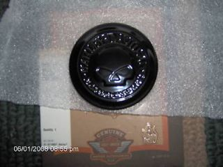 HARLEY SPORTSTER SKULL GAS CAP MEDALLION/NIGH​TSTER GLOSS BLACK PART