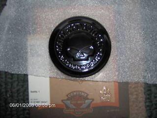 HARLEY SPORTSTER SKULL GAS CAP MEDALLION/NIGHTSTER GLOSS BLACK PART