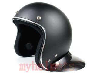 Jet Open Face Harley Helmet Motorcycle Scooter XS S M L Matte Black