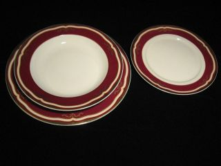 Titanic 2nd Class White Star Line dinner plate side plate & bowl set