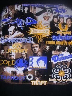 2003 godsmack seether staind rock band tour shirt xfest