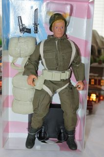 Toy Soldiers the World Doll Action Figure Paratrooper World War II