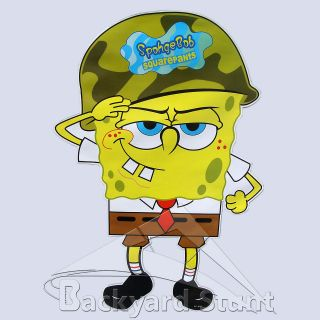 BIG Soldier Spongebob Wall Sticker Decal 35X54CM Squarepants TV