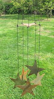 rustic wrought iron rusty metal wind chimes garden decor time