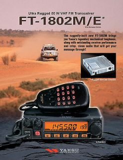yaesu ft 1802 radio vhf transceiver 2m ham radio new