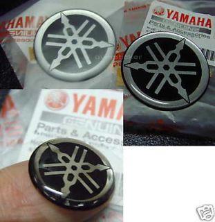 4cm x4 Blue GENUINE YAMAHA sticker logo tank decal tuning fork badge