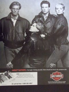 1988 Harley Davidson Leather Jacket Ad Nice Advertisement
