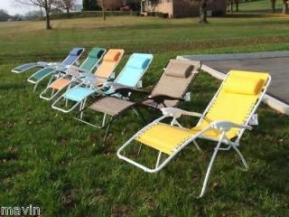 zero gravity lounge chairs with choice of 4 colors