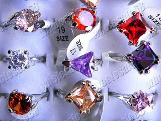 wholesale lots 20ps color CZ zirconia fashion jewelry unisex GIFT