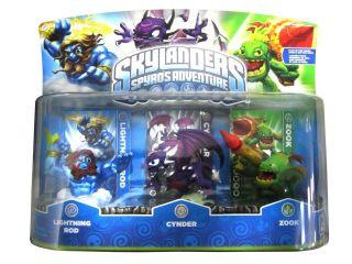 Skylanders Spyros Adventure Figure 3 Lightning Rod Cynder Zook Figures