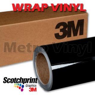3M 1080 Scotchprint Gloss Black Vinyl Vehicle Wrap Film Sheet 5ft x