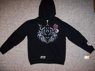 Unit 50 Cent Hoodie Sweatshirt Boys Sz Medium Black Outerwear NWT