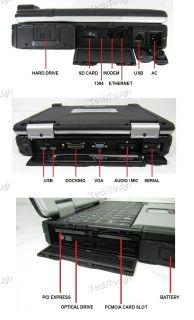 Internal GPS Black Hawk Panasonic Toughbook CF 30 Laptop Military Spec