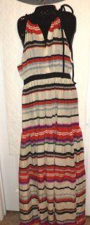 995 00 10 Crosby by Derek Lam Multi Stripe Maxi Dress Size 8