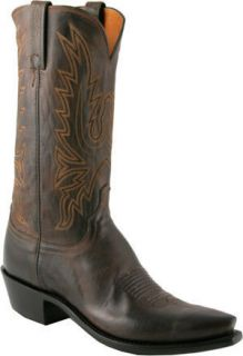 Mens 1883 by Lucchese Western Boots N1556 5 4 Chocolate Mad Dog Goat