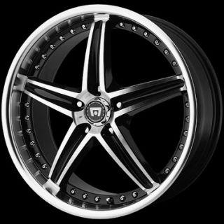 16 x 7 Motegi Racing MR107 107 Black Wheels Rims 5 Lug 5x4 5 5x110
