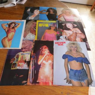 1980 S WOMAN IN WRESTLING 10 WRESTLING PIN UPS