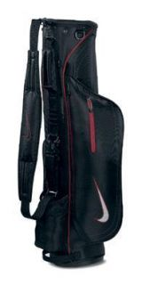 2011 Nike Golf Skinny Carry Bag Black Red Sunday Style Bag Brand New $