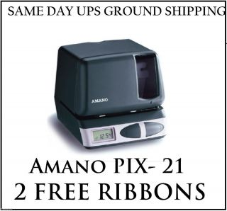Amano Pix 21 Electronic time Clock & Time Stamp  Time Clocks AMA PIX21