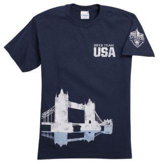 2012 Summer Olympics London Bridge Team USA T Shirt Worldwide Shipping