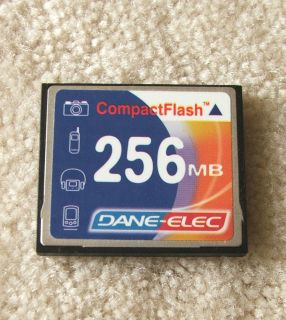 DANE ELEC CompactFlash Compact Flash Picture Memory Card 256MB 256 MB