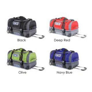26 2 Section Rolling Duffel Bag Wheeled Luggage Travel Duffle