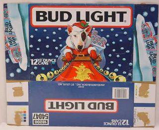 Spuds McKenzie Bud Light Santa Claus 12 Pack Box 27