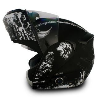 Vcan Bluetooth 2X Visors Crusader Modular Flip Up Motorcycle Helmet S