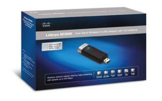 Cisco Linksys AE3000 Dual Band Wireless N USB Wi Fi Adapter   3 x 3