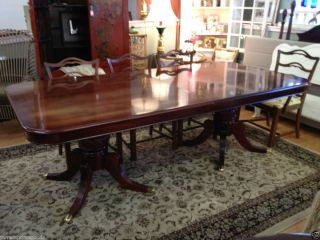 12 5 Fee Long Solid Wood Dining Room able Carved Pedesal Bases