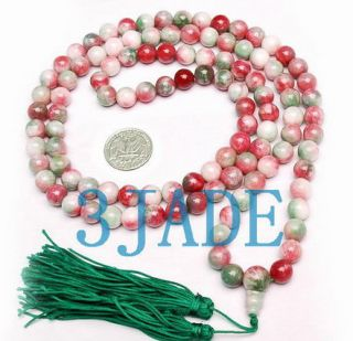 42 Tibetan 108 Colorful Jade Prayer Beads Mala