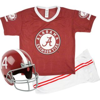 Alabama Crimson Tide Kids Youth Football Helmet and Uniform Set