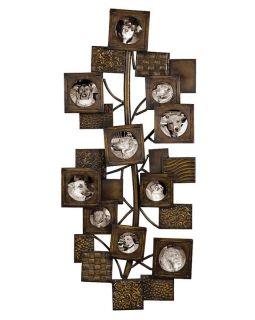 Huge Bronze Iron Wall Photo Tree Frame Collage Art 42