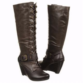 Bare Traps Womens Darleen Brown Boots Faux Leather Size 6 5 OUTLET US