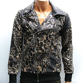 leopard print jacket mens in Coats & Jackets