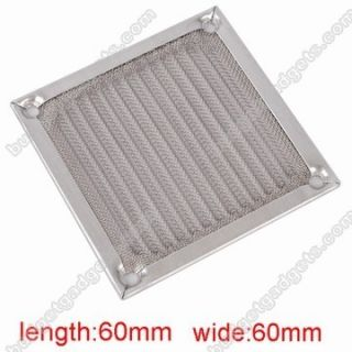 60mm Aluminum PC Case Cooler Fan Dustproof Filter Grill