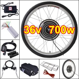 36V 700W 26 Front Electric Bicycle Engine Kit Bike Hub Conversion