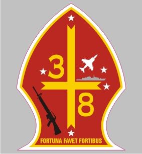 MA 3062 3rd Battalion 8th Marine USMC Semper Fi Bumper Sticker Car