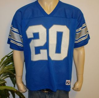 80s 90s DETROIT LIONS vtg NFL football jersey shirt L 20 Barry Sanders